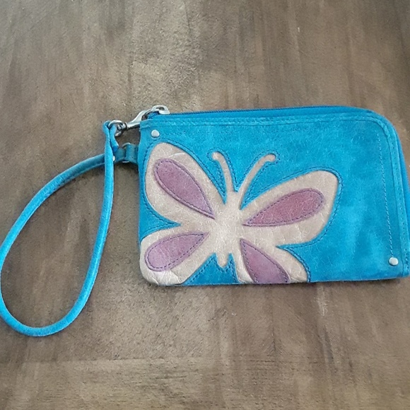 Fossil Handbags - Fossil Leather Butterfly Wristlet